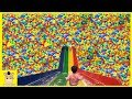 Indoor Playground Fun for Kids and Family Rainbow Slide Colors Play Ball | MariAndKids Toys