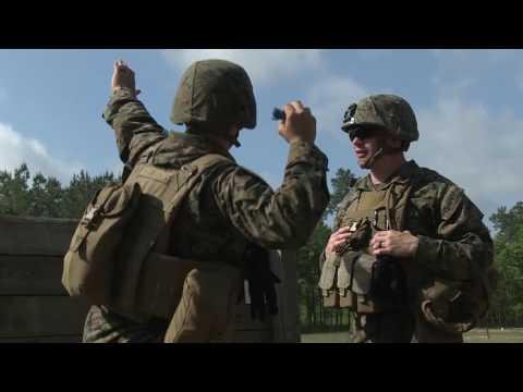 2nd Battalion, 2nd Marine Regiment, 2nd Marine Division, conduct a live hand grenade range