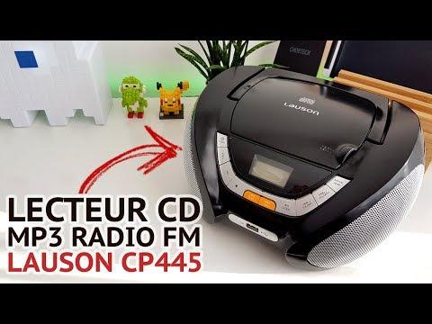 LECTEUR CD MP3 RADIO USB PORTABLE LAUSON Boombox CP445 📀