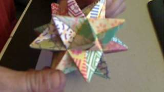 How to fold an Origami Modular Star