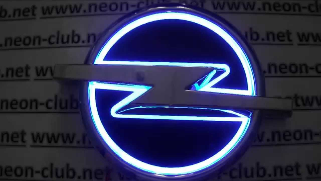 5d Emblem With Light Opel Led Car Badge Logo Sticker Blue Youtube