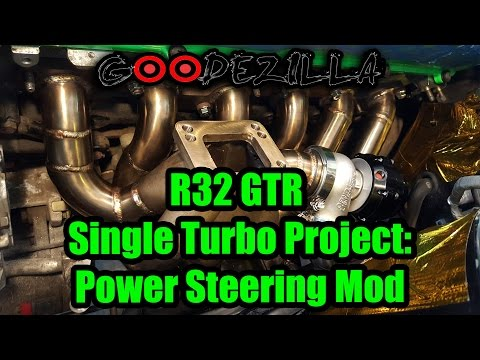 R32 Skyline GTR Single Turbo Project Episode 4  - Power Steering and Heat Shielding