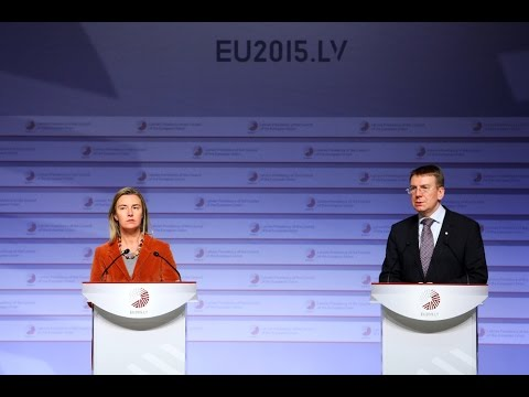 Press Conference: Edgars Rinkēvičs and Federica Mogherini [Original]