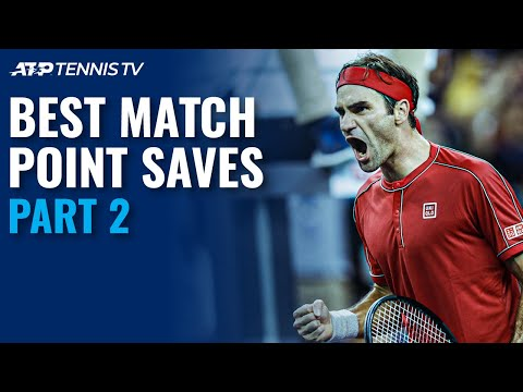 Best ATP Tennis Match Point Saves! 😮 Part 2