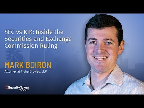 SEC Vs KIK: Inside The Securities And Exchange Commission Ruling
