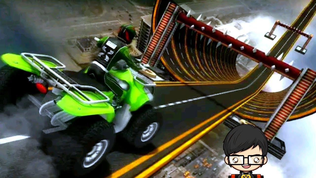Racing Quad Bike Moto Stunt Atv Impossible Track Gameplay Full