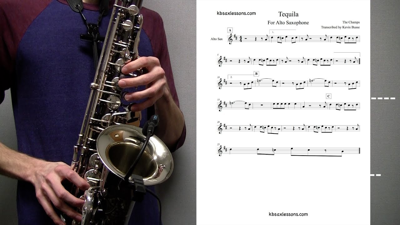 How to play Tequila! - Solo - Alto Sax