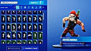 Fortnite - Justice Orange with Santa Claus for 12 Hours Straight - Santa General Winter