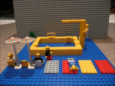 Lego swimming pool youtube for How to make swimming pool water sparkle