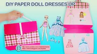 MEMBUAT GAUN BONEKA KERTAS HOMEMADE | DIY PAPER DOLL DRESSES UP|QUIET PAPER BOOK