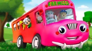 Wheels on the Bus Nursery Rhymes for Babies  | Kids Songs & Cartoon Videos for Children
