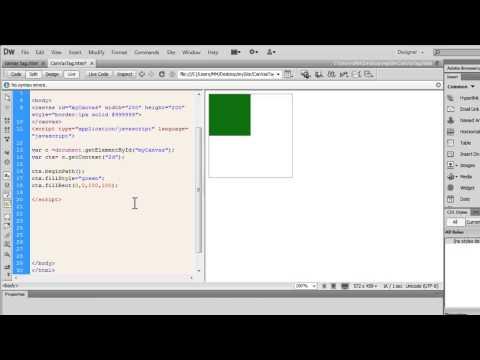 Dreamweaver tutorial:The HTML 5 Canvas Tag