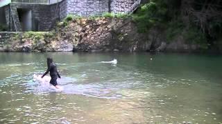 ワンコ達と川遊びしてきました~(*^^)v.