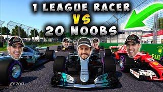 F1 2017 - 1 League Racer vs 20 Noobs