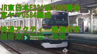 JR東日本E231系1000番台宮ヤマU584編成 快速アクティー熱海行き 国府津駅到着~発車