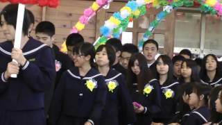 石垣中学校 卒業式2013