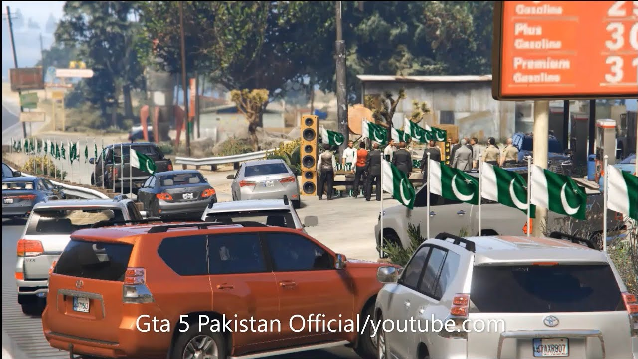 Gta 5 Pakistan   Flags Stalls at Highway   14th August   Trailer#3