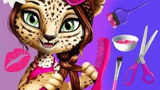 Fun Jungle Animals Pet Care Hair Salon Makeup Dress Up Spa Makeover Kids & Girls Games