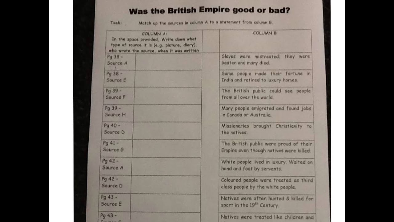 Was the british empire good or bad essay