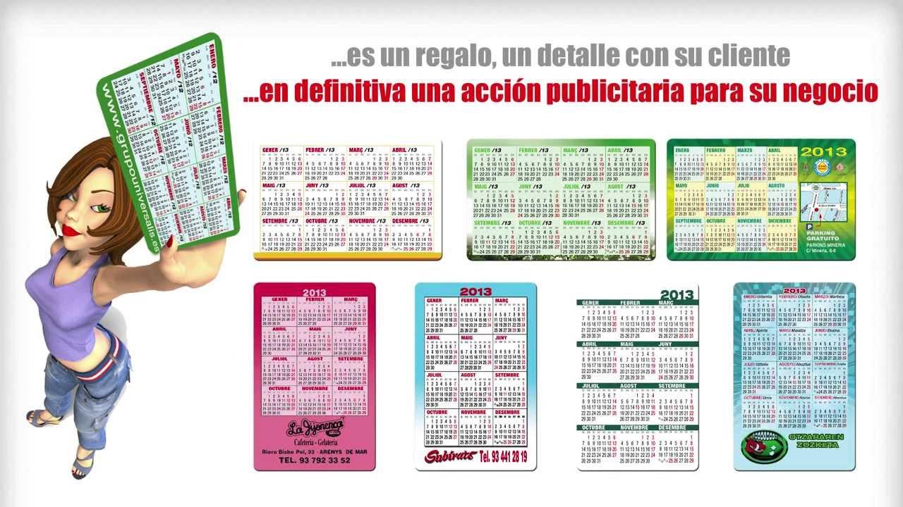 Calendarios tipo Crédito · Calendarios de Bolsillo 2014 - YouTube