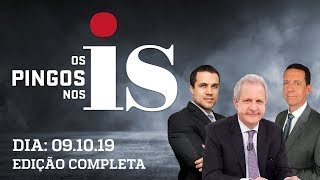 Os Pingos Nos Is - 09/10/2019 - TCU mantém suspensão / Tensão no PSL / Dirceu ganha desconto