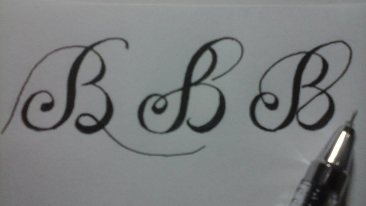 handwriting alphabet , calligraphy B for beginners