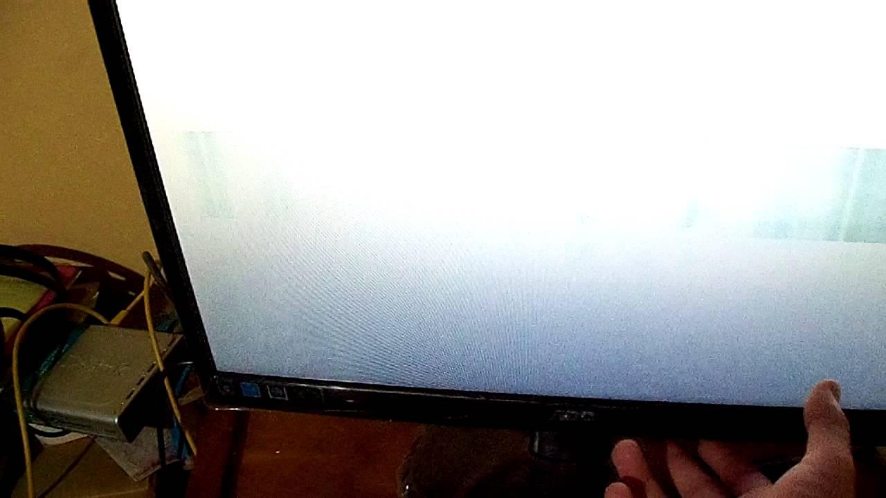 Aoc E2050s Problemas De Pantalla En Blanco Youtube