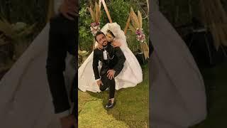 العريس بيبوسها من بوقها بعد ما العروسه باسته من خدو هتموتو ضحك 😂