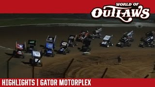 World of Outlaws Craftsman Sprint Cars | Gator Motorplex 4/13/17