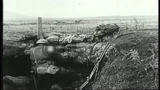 U.S. Army troops of 7th Field Artillery near Beaumont in France during World War ...HD Stock Footage