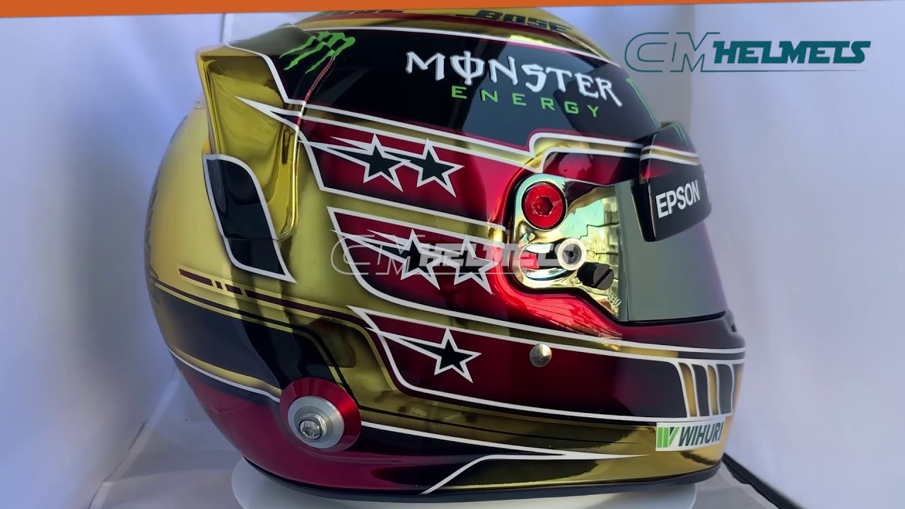 LEWIS HAMILTON 2018 ABU DHABI GP GP F1 REPLICA HELMET FULL SIZE