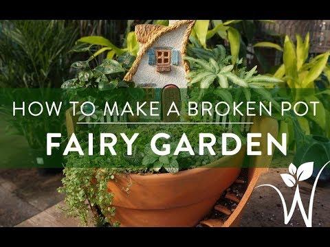 how to make a fairy garden youtube