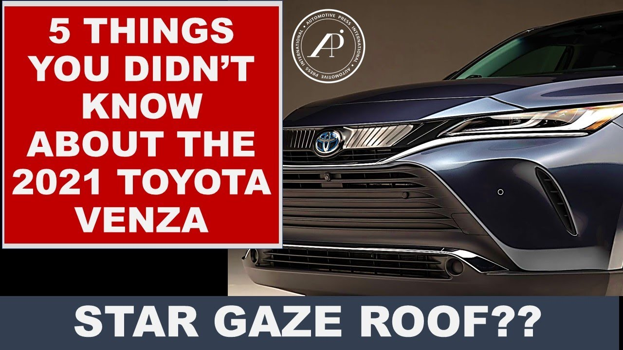 5 UNIQUE FACTS ABOUT TOYOTA VENZA THAT YOU PROBABLY DIDN'T KNOW