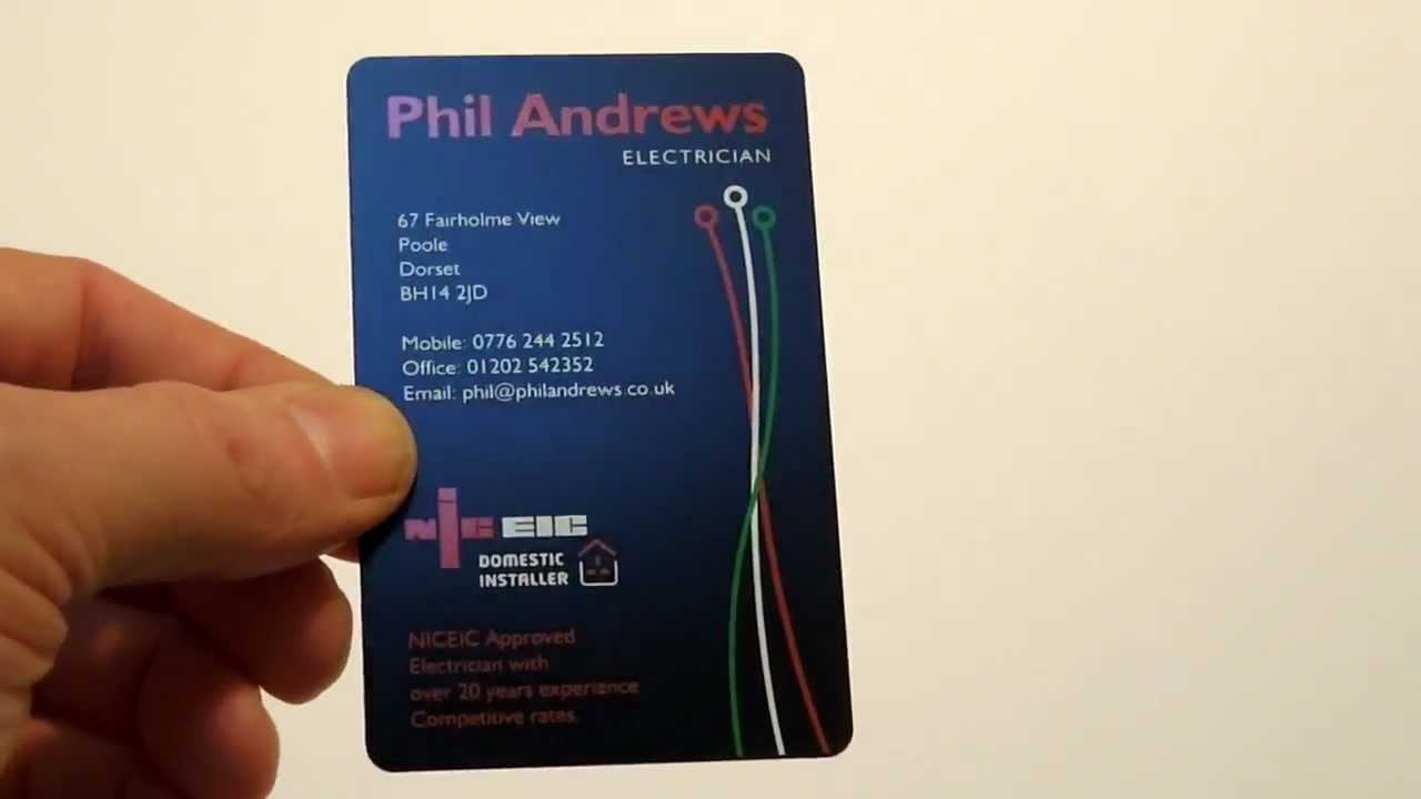 A Satin Black Plastic Business Card Youtube