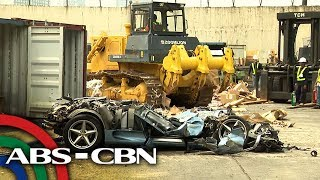Smuggled sports car, winasak ng Customs | News Patrol
