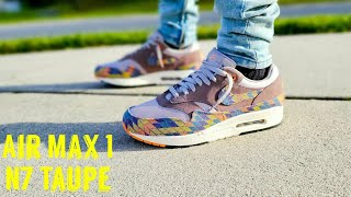 Air Max 1 N7 Taupe Unboxing & On Feet - YouTube