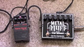 Electro Harmonix Metal Muff Vs Boss Metal Zone Distortion Pedal Shootout