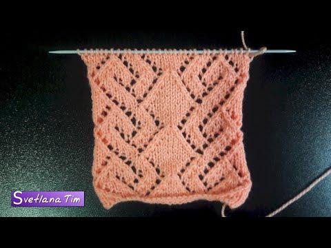Вязание узоров спицами при помощи накидов