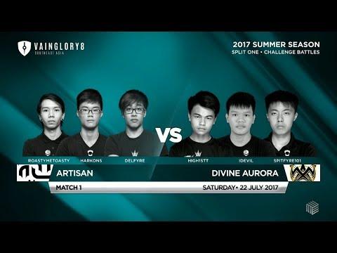 Divine Aurora Vs Artisan • Vainglory 8 Summer Challenge Battles, Split 1