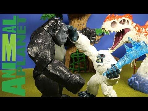 New Animal Planet Yeti Playset Vs Indominus Rex & King Kong - Jurassic World Unboxing - WD Toys