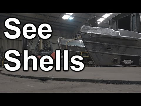 123. Narrowboat construction: shell (hull) steelwork, filmed at Aintree Boats