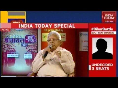 Panchayat Aaj Tak: Lalu An Asset Or Liability For Bihar Elections?
