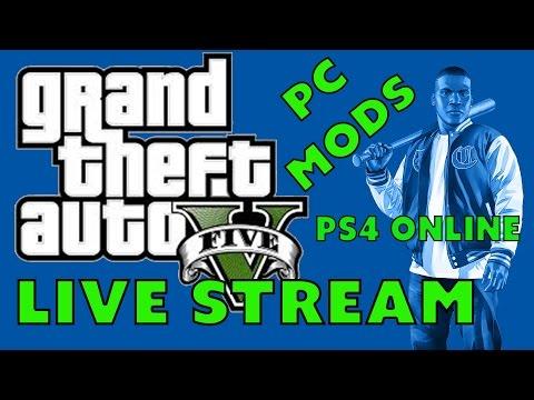"""""""GTA 5 PS4  LIVE STREAM!"""" Open Lobbies Online Races ,Funny Moments.GTA V Live 1080p"""