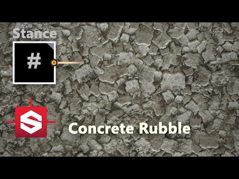 Concrete Rubble - Substance Designer Material Breakdown