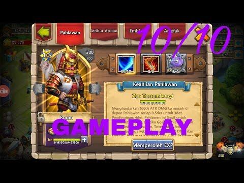 #146 Castle Clash/konflik Kastil  : New Hero Ronin  Game Play Di TEST SERVER