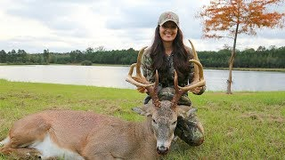Her First Bow Hunt!!  Bama Buck