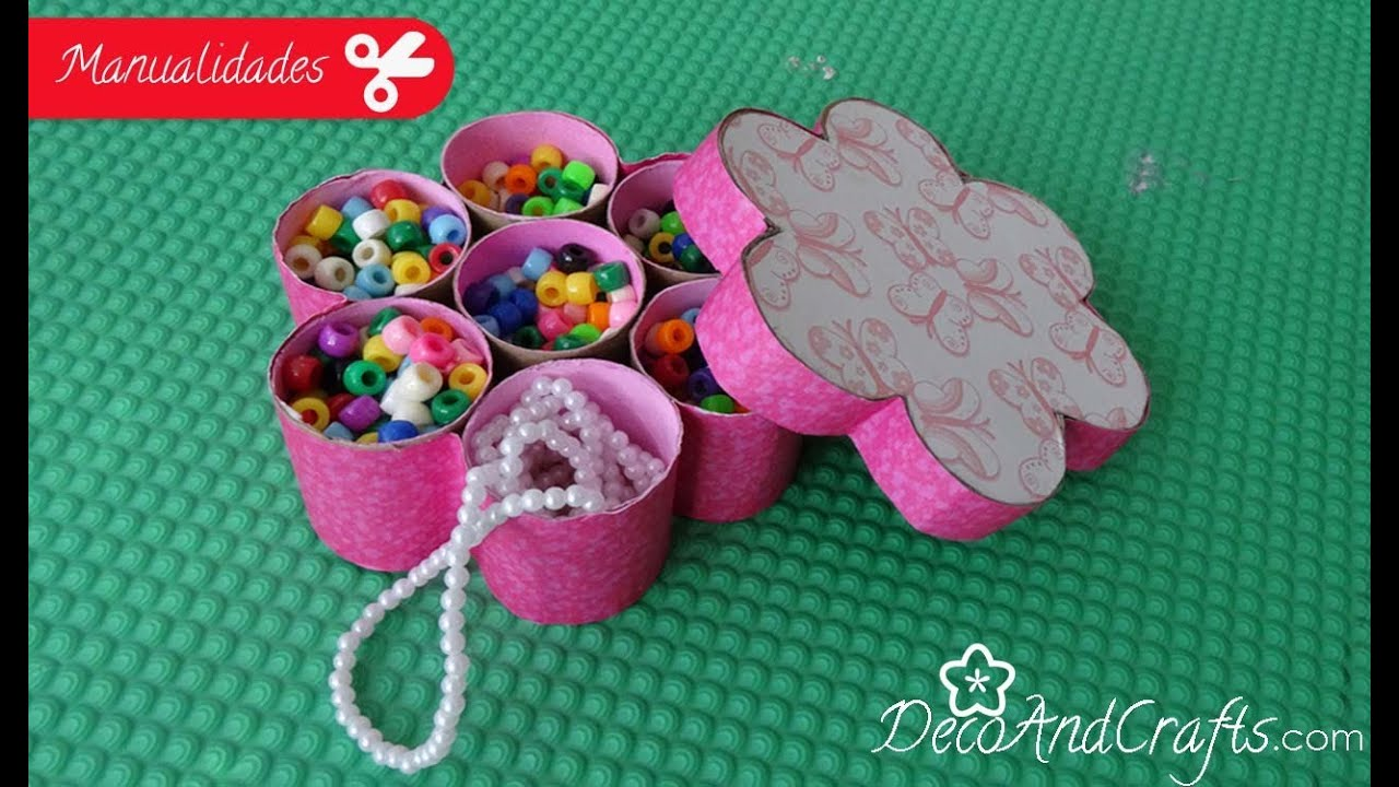 Caja en forma de flor diy flower box youtube - Manualidades en carton ...