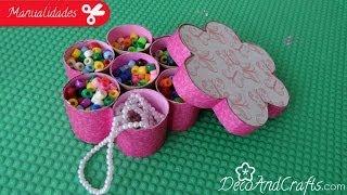 Caja En Forma De Flor - Diy - Flower Box