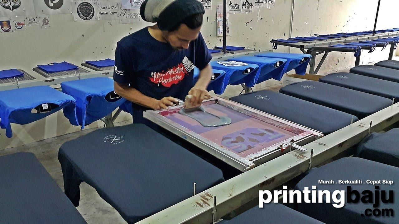 T Shirt Printing Malaysia Youtube