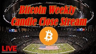 Bitcoin Live : BTC Weekly Candle Close Stream. Episode 697 - Crypto Technical Analysis